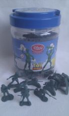 Adorable Disney Store Exclusive Toy Story 'Green Army Men' in a storage collectable tub